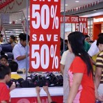 50 percent sale at SM City Lipa