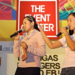 event hosts Ms. Wendy of SM Lipa and  Gerlie of WOWBatangas