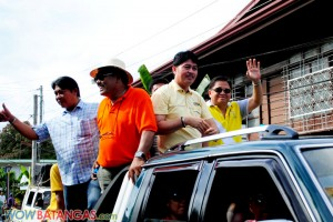 Mayor Michael Montenegro, Vice Mayor Pong Mercado of Taal