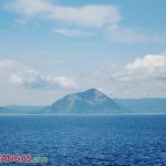 the view of Taal Lake and Mt. Binintian from Balai Isabel