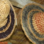hats made of dried water lilies
