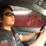 Aris while driving his baby Indai