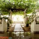 Llamar Beach Resort garden patio