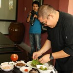 Chef Paul Poblador doing the ensaladang SGB