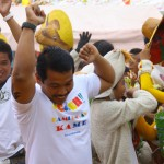 Mayor Jey Cerrado celebrates with his contingent