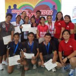 winners with JCI members in red | fun run | Batangas