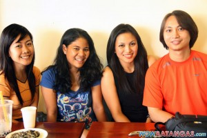 Dyan with Sarah, Heidi, and Heinz