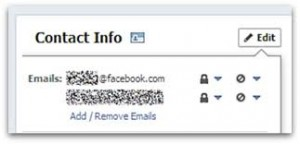 Facebook email - how to change from (at)facebook.com to old email