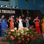 Candidates in their evening gown
