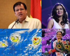 DILG Secretary Robredo, Zsa Zsa Padilla, tropical storm Igme, Miss World 2012