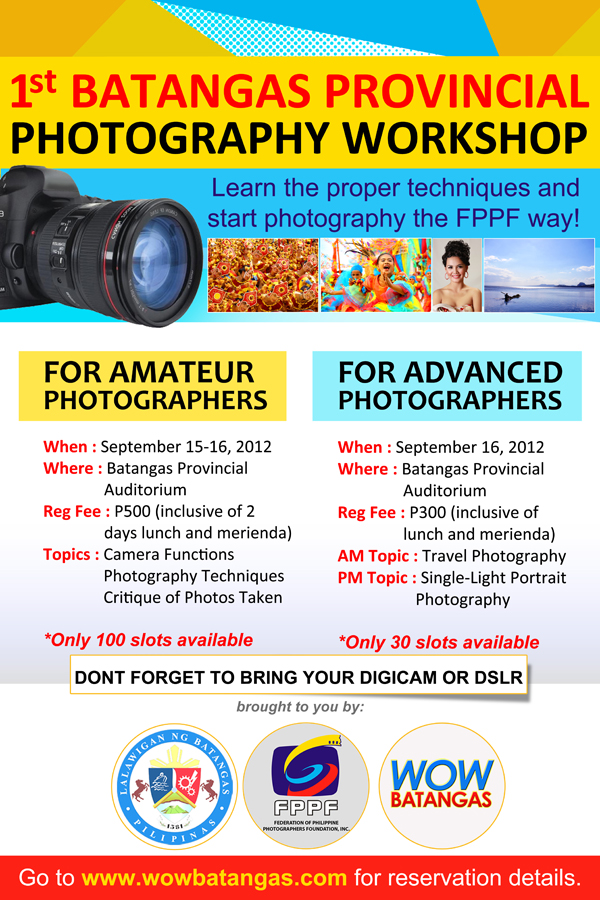 FIRST BATANGAS PROVINCIAL PHOTOGRAPHY SEMINAR