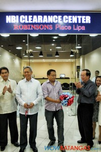 inauguration of the NBI e-Clearance Center in Robinsons Place Lipa