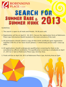 Search for Summer Babe and Summer Hunk 2013