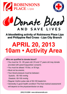 blood-letting activity - Robinsons Place Lipa