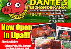 Dante's Lechon de Kahoy Opens Store in Lipa