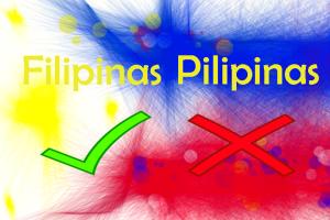 Filipinas or Pilipinas
