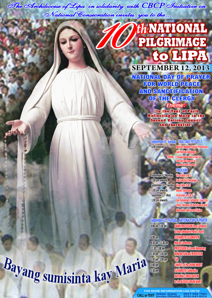 10th National Pilgrimage to Lipa