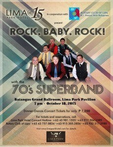 The 70's Superband concert at LIMA Park Hotel anniversary
