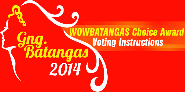 Gng. Batangas 2014 – WOWBatangas Choice Award Voting Instructions