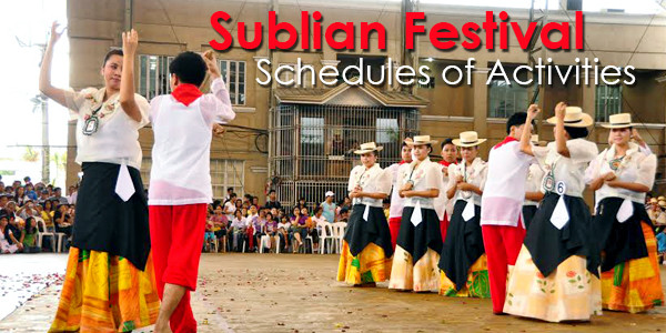 Schedule of Activities: Sublian Festival and  45th Batangas City  Foundation Day Activities July 5-23, 2014