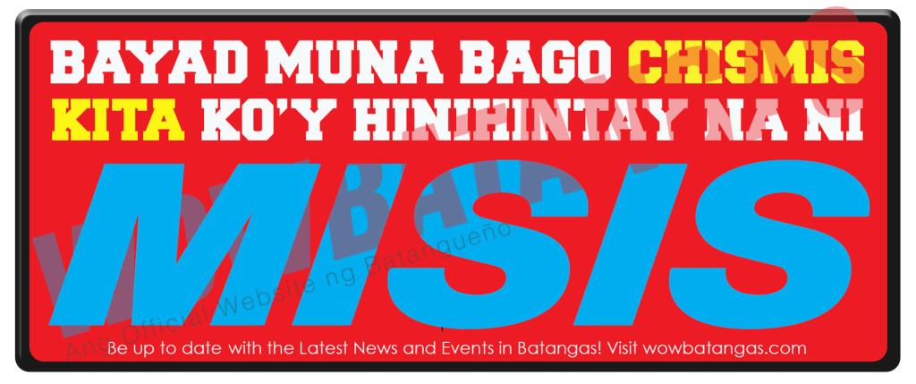 bayad muna bago chismis - jeepney sticker wowbatangas