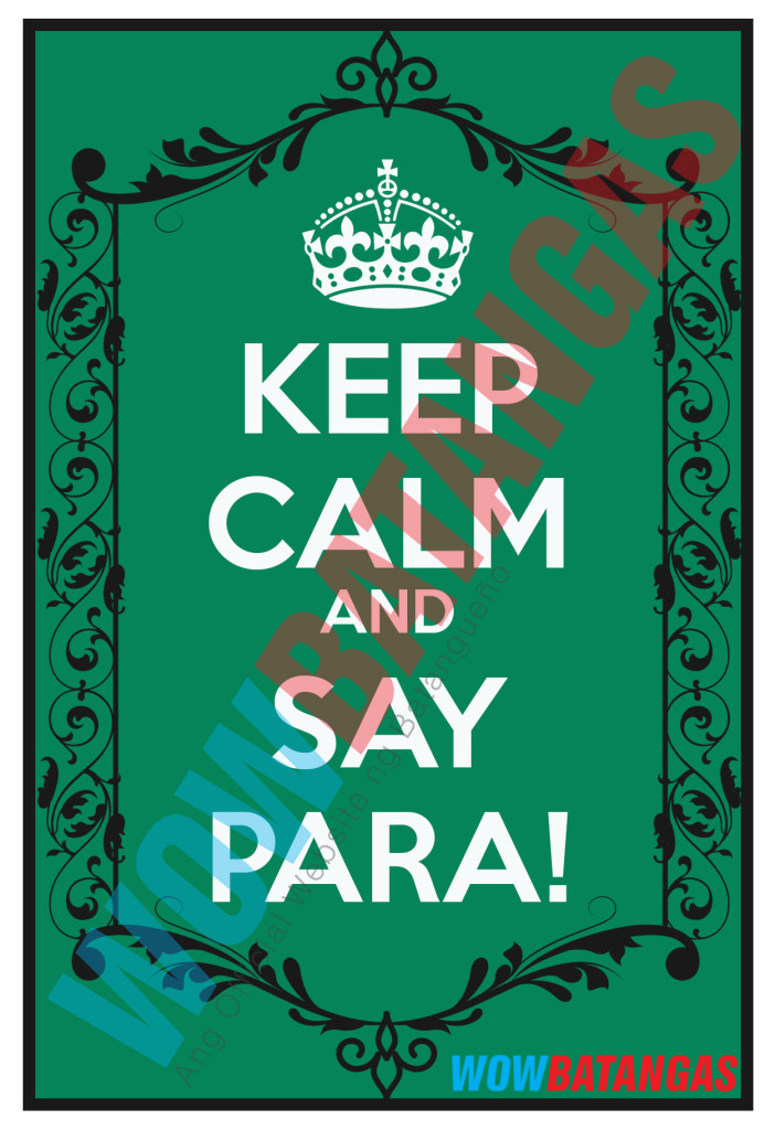 keep calm and say para - jeepney sticker wowbatangas