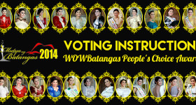 Mutya ng Batangas 2014 Voting Instructions