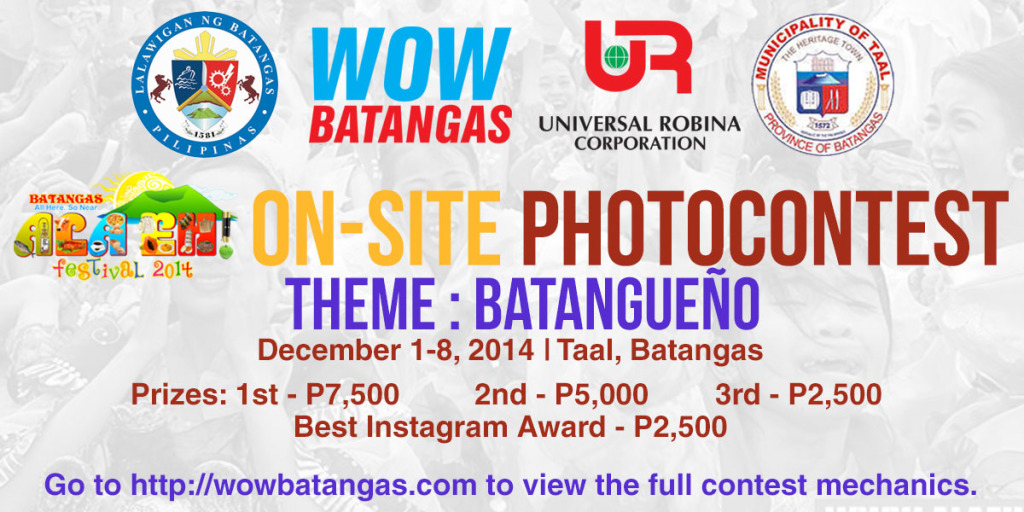 On-Site Photo Contest Mechanics - Ala Eh! Festival 2014