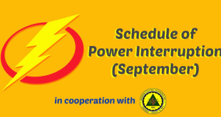 Schedule of Power Interruptions : September