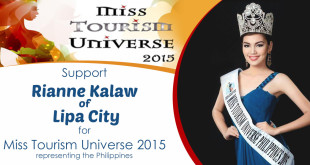Support Rianne Kalaw of Lipa City for Miss Tourism Universe 2015