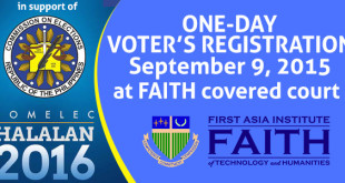 Voter's Registration at FAITH