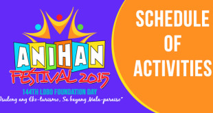 Anihan Festival 2015 Schedule of Activities