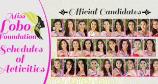 Miss Lobo Foundation 2015 Schedule of Activities