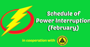 Schedule of Power Interruptions : February
