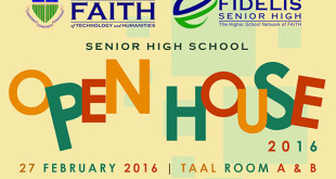 FAITH : Senior High School Open House 2016