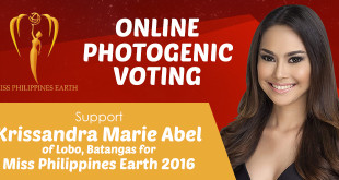 Support Krissandra Marie Abe of Lobo, Batangas for Miss Earth Philippines 2016