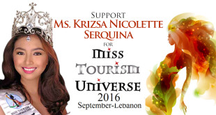 Support Ms. Krizsa Nicolette Serquina for Miss Tourism Universe 2016