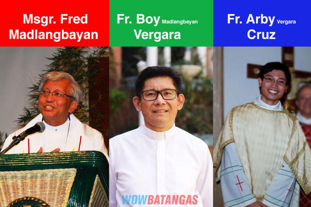 3 Generations of Batangas Priests - Msgr Fred Madlangbayan Fr Boy Vergara Fr Arby Cruz